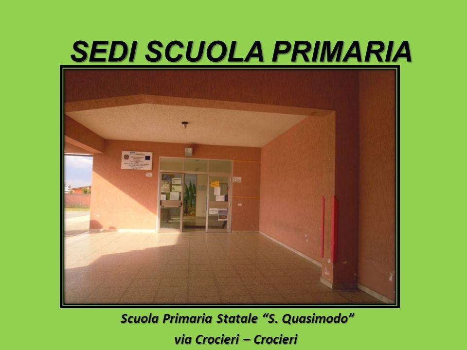 Scuola Primaria Statale S. Quasimodo Scuola Primaria Statale S. Quasimodo via Crocieri – Crocieri SEDI SCUOLA PRIMARIA
