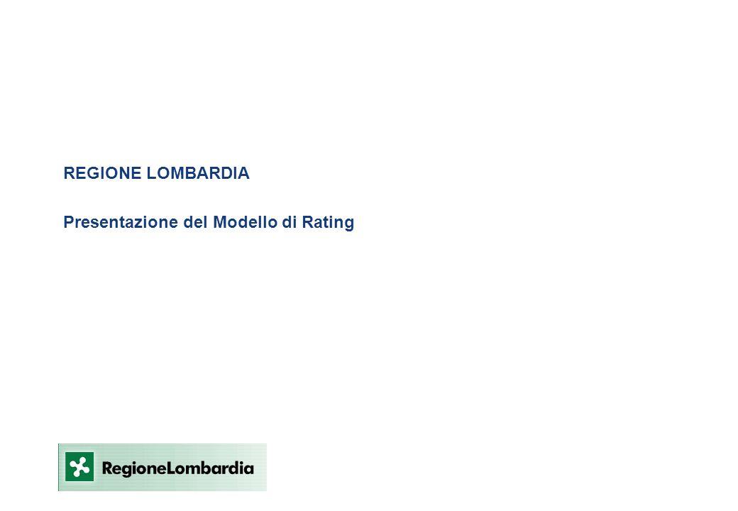 REGIONE LOMBARDIA Presentazione del Modello di Rating