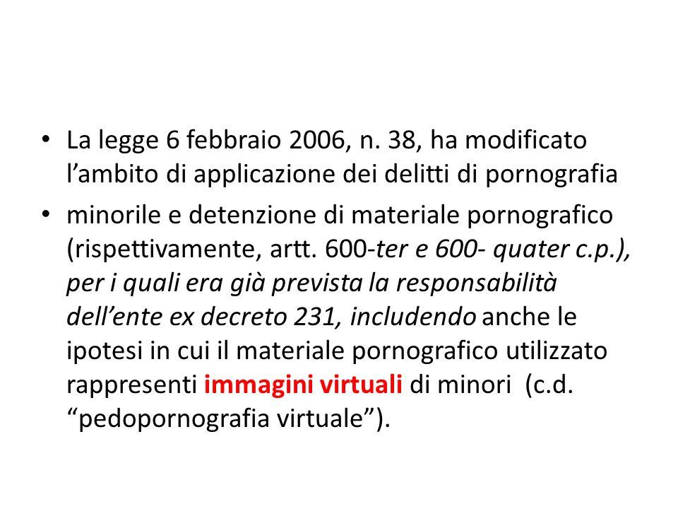 La legge 6 febbraio 2006, n.