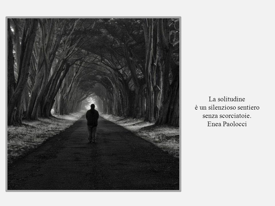 La solitudine è un silenzioso sentiero senza scorciatoie. Enea Paolocci