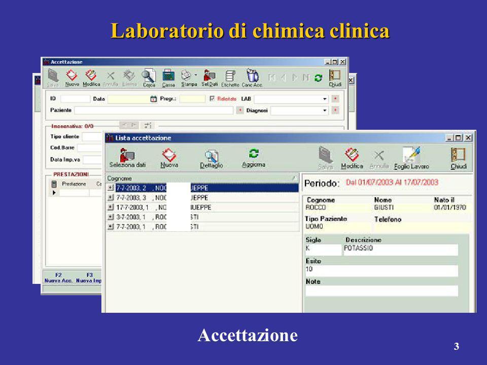 3 Laboratorio di chimica clinica Accettazione