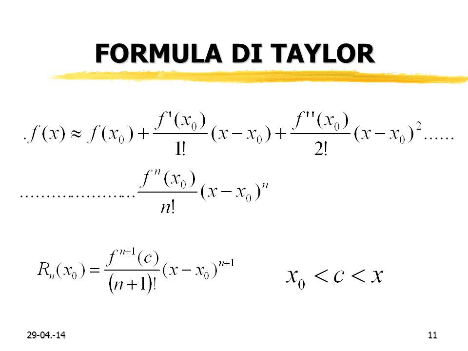 29-04.-1411 FORMULA DI TAYLOR