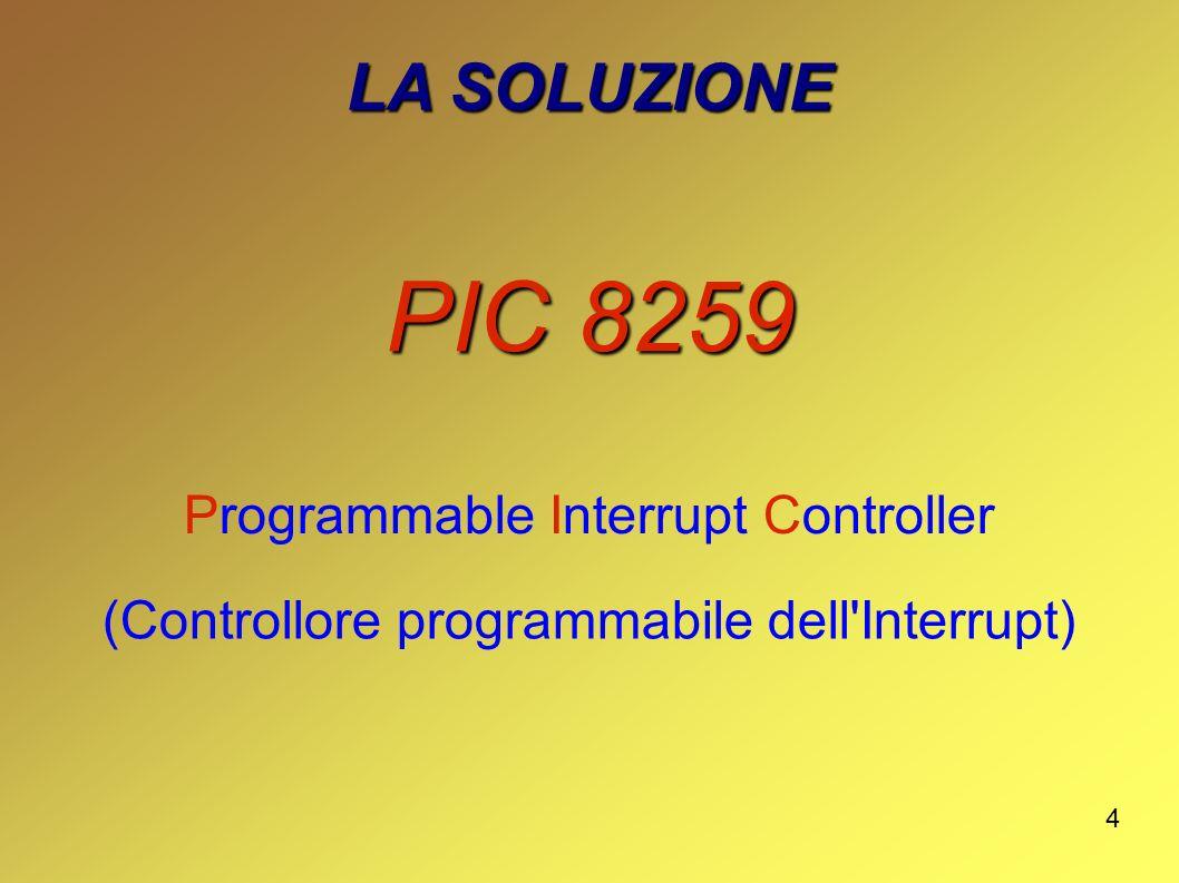 4 LA SOLUZIONE PIC 8259 Programmable Interrupt Controller (Controllore programmabile dell'Interrupt)