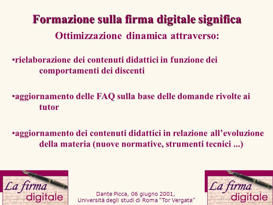 Dante Picca, 06 giugno 2001, Università degli studi di Roma Tor Vergata aggiornamento delle FAQ sulla base delle domande rivolte ai tutor aggiornament