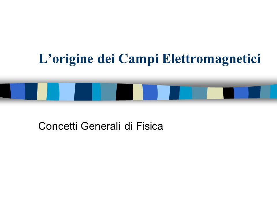Lorigine dei Campi Elettromagnetici Concetti Generali di Fisica