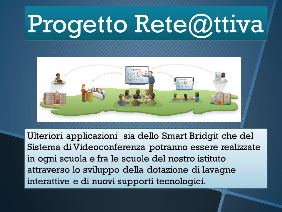 Progetto Rete@ttiva Ulteriori applicazioni sia dello Smart Bridgit che del Sistema di Videoconferenza potranno essere realizzate in ogni scuola e fra