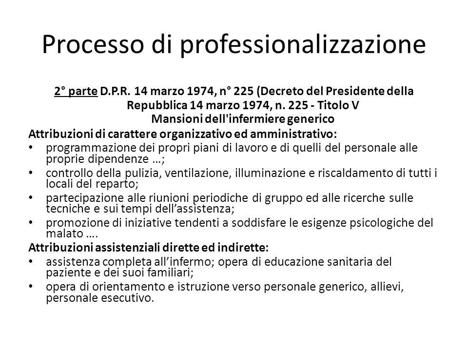 Processo di professionalizzazione 2° parte D.P.R. 14 marzo 1974, n° 225 (Decreto del Presidente della Repubblica 14 marzo 1974, n. 225 - Titolo V Mans