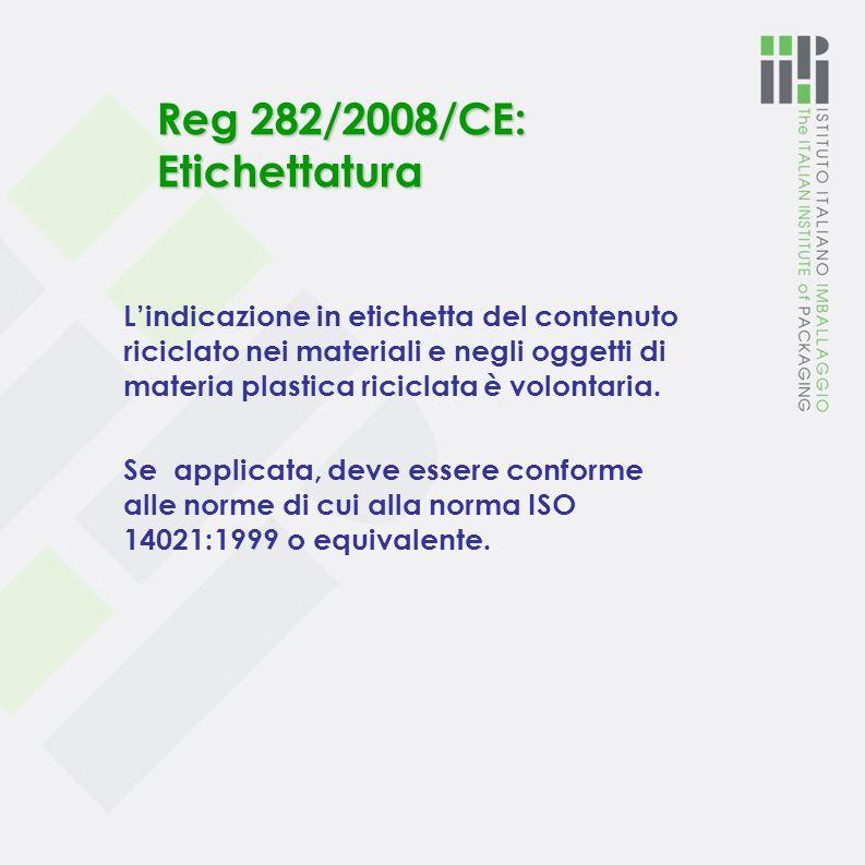 Reg 282/2008/CE: Domanda di autorizzazione di un processo di riciclo e parere EFSA per l'autorizzazione 1. LEFSA ( Autorità Europea sulla Sicurezza Al