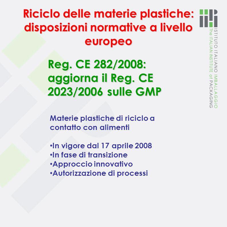 Estensione dellimpiego delle cassette in poliolefine per ortofrutta … lallegato V è sostituito dallallegato al presente regolamento DM 270/2007 Aggior
