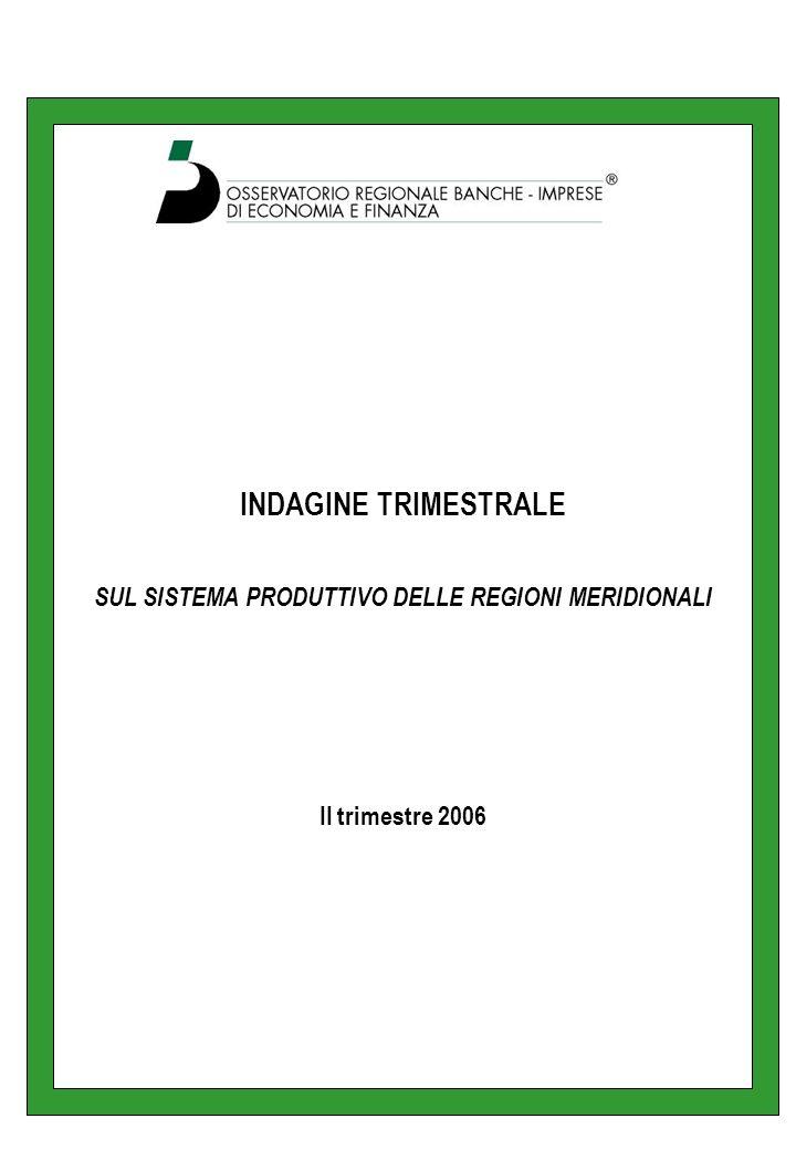 LE REGIONI – Abruzzo Lattività di produzione nel secondo trimestre 2006 rispetto allo stesso periodo del 2005 è stata valutata stazionaria dal 56% degli imprenditori intervistati con un saldo negativo di 4 punti ed una variazione tendenziale del -3%.