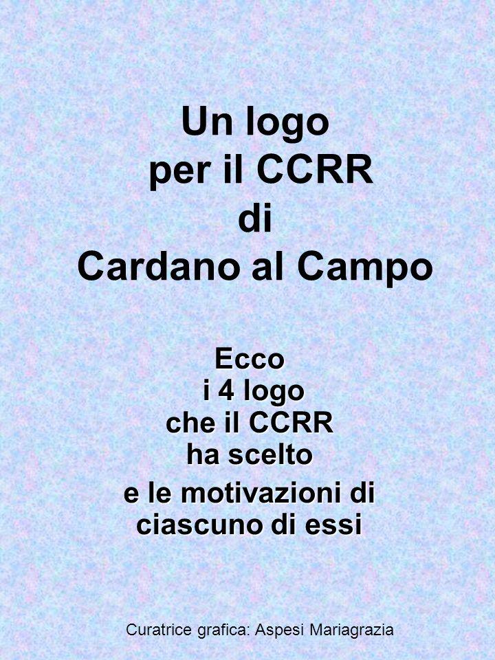 Il CCRR ha scelto con votazione a scrutinio segreto questi quattro logo tra quelli proposti dalle 4 classi terze
