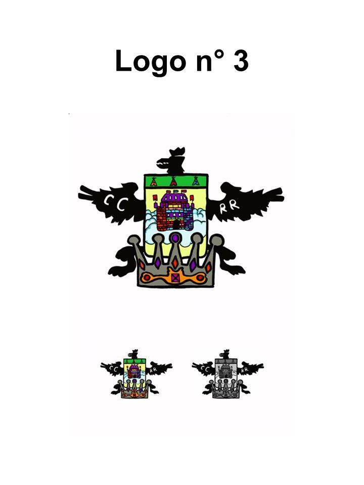 Il logo rappresenta la scomposizione degli elementi dello stemma di Cardano al Campo con la loro variazione.