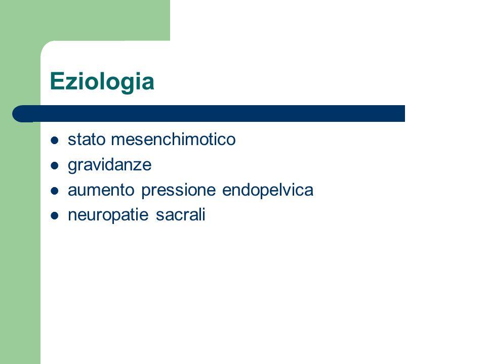 Eziologia stato mesenchimotico gravidanze aumento pressione endopelvica neuropatie sacrali