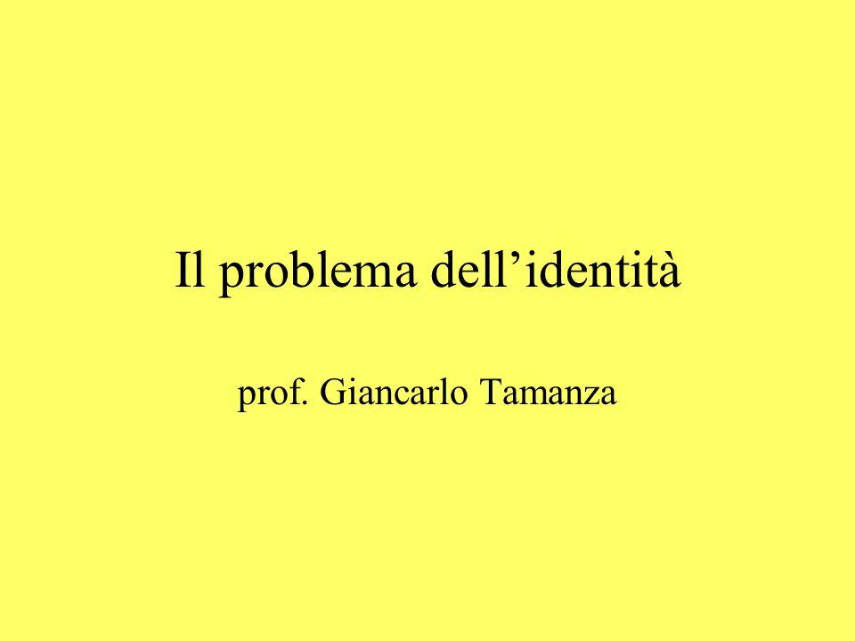 Il problema dellidentità prof. Giancarlo Tamanza