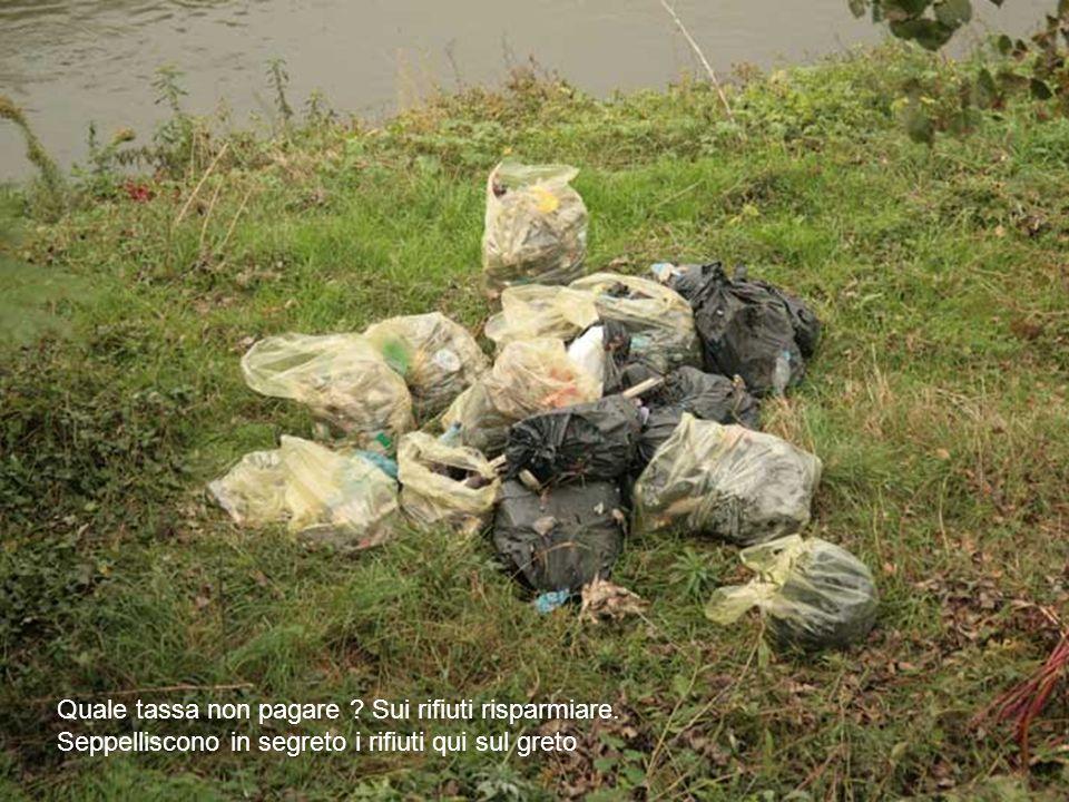 Quale tassa non pagare Sui rifiuti risparmiare. Seppelliscono in segreto i rifiuti qui sul greto