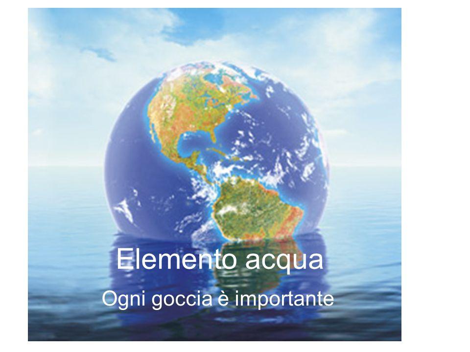 Elemento acqua Ogni goccia è importante