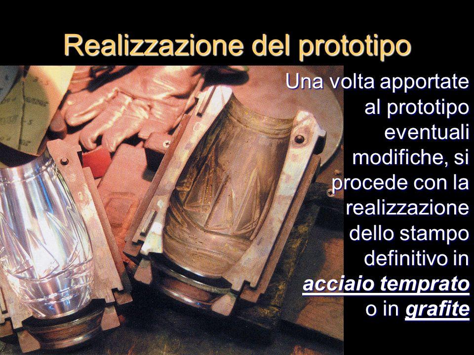 Una volta apportate al prototipo eventuali modifiche, si procede con la realizzazione dello stampo definitivo in acciaio temprato o in grafite Realizz