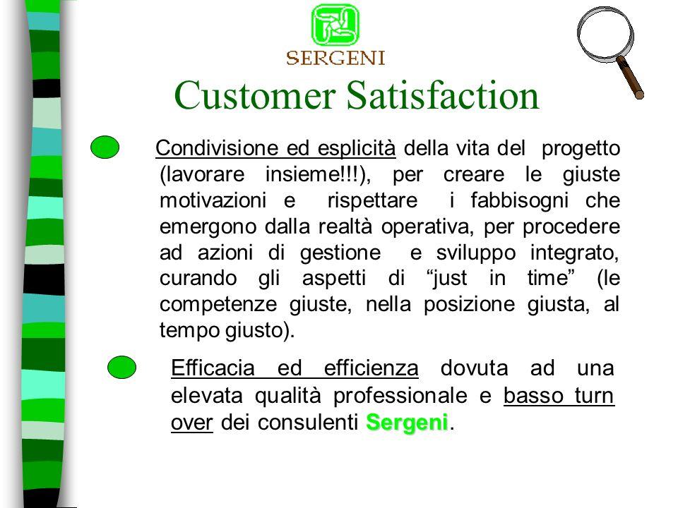 Customer Satisfaction Ascolto attivo della voce del cliente, ponendo attenzione e sensibilità per rispondere tempestivamente allevoluzione dei suoi bisogni;
