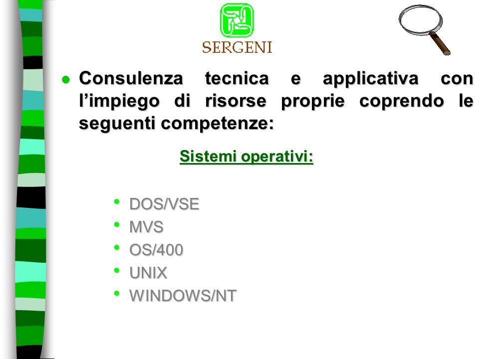 Piattaforma Hardware: IBM 30XX IBM 43XX AS/400 VAX BULL SIEMENS HP