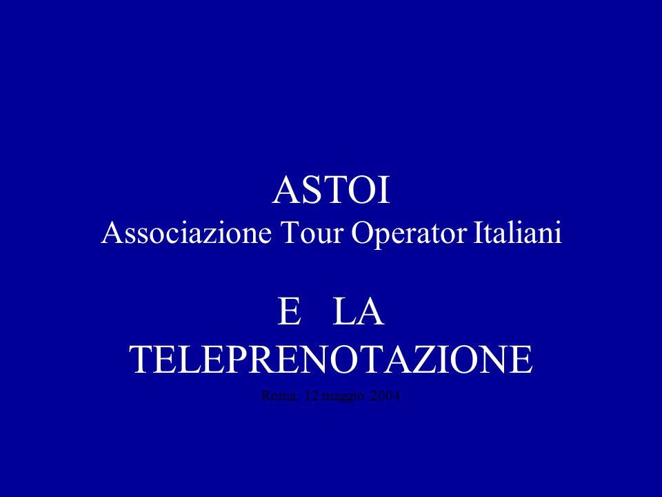 E LA TELEPRENOTAZIONE Roma, 12 maggio 2004 ASTOI Associazione Tour Operator Italiani