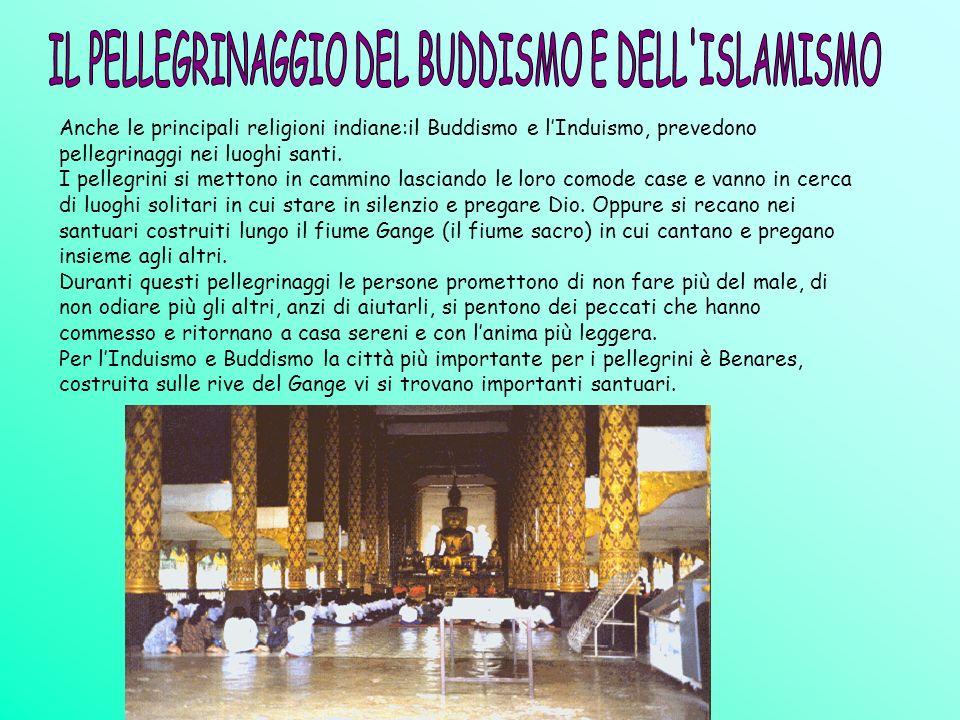 Anche le principali religioni indiane:il Buddismo e lInduismo, prevedono pellegrinaggi nei luoghi santi. I pellegrini si mettono in cammino lasciando