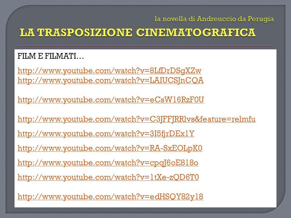 FILM E FILMATI… http://www.youtube.com/watch?v=8LfDrDSgXZw http://www.youtube.com/watch?v=LAIUCSJnCQA http://www.youtube.com/watch?v=eCsW16RzF0U http://www.youtube.com/watch?v=C3JFFJRRlvs&feature=relmfu http://www.youtube.com/watch?v=3I5fjrDEx1Y http://www.youtube.com/watch?v=RA-SxEOLpK0 http://www.youtube.com/watch?v=cpqJ6oE818o http://www.youtube.com/watch?v=1tXe-zQD6T0 http://www.youtube.com/watch?v=edHSQY82y18