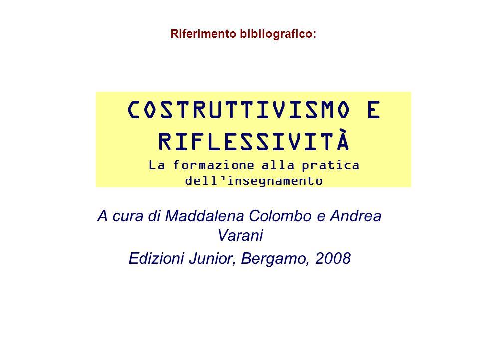 RIFLESSIVITÀ E CREATIVITÀ NELLE PROFESSIONI EDUCATIVE A cura di Maddalena Colombo Edizioni Vita e Pensiero, Milano, 2005 Riferimento bibliografico: