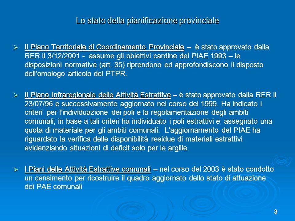 3 Lo stato della pianificazione provinciale Il Piano Territoriale di Coordinamento Provinciale – Il Piano Territoriale di Coordinamento Provinciale –