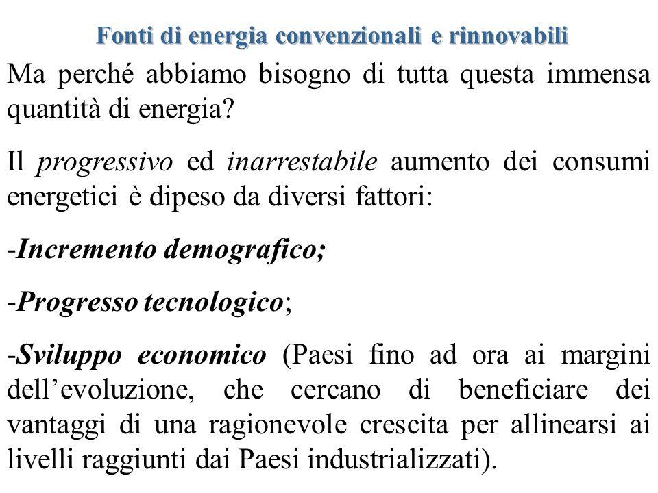 Ma perché abbiamo bisogno di tutta questa immensa quantità di energia? Il progressivo ed inarrestabile aumento dei consumi energetici è dipeso da dive