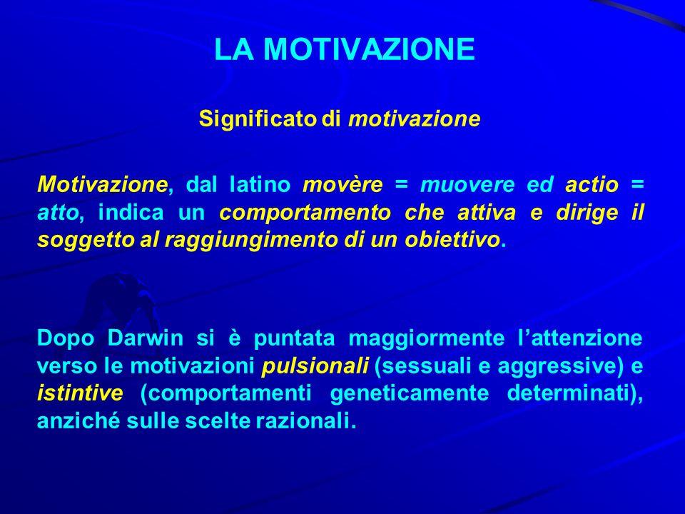 LA MOTIVAZIONE Significato di motivazione Istinti Istinti: sono comportamenti geneticamente determinati, difficilmente modificabili, presenti prevalentemente negli animali.