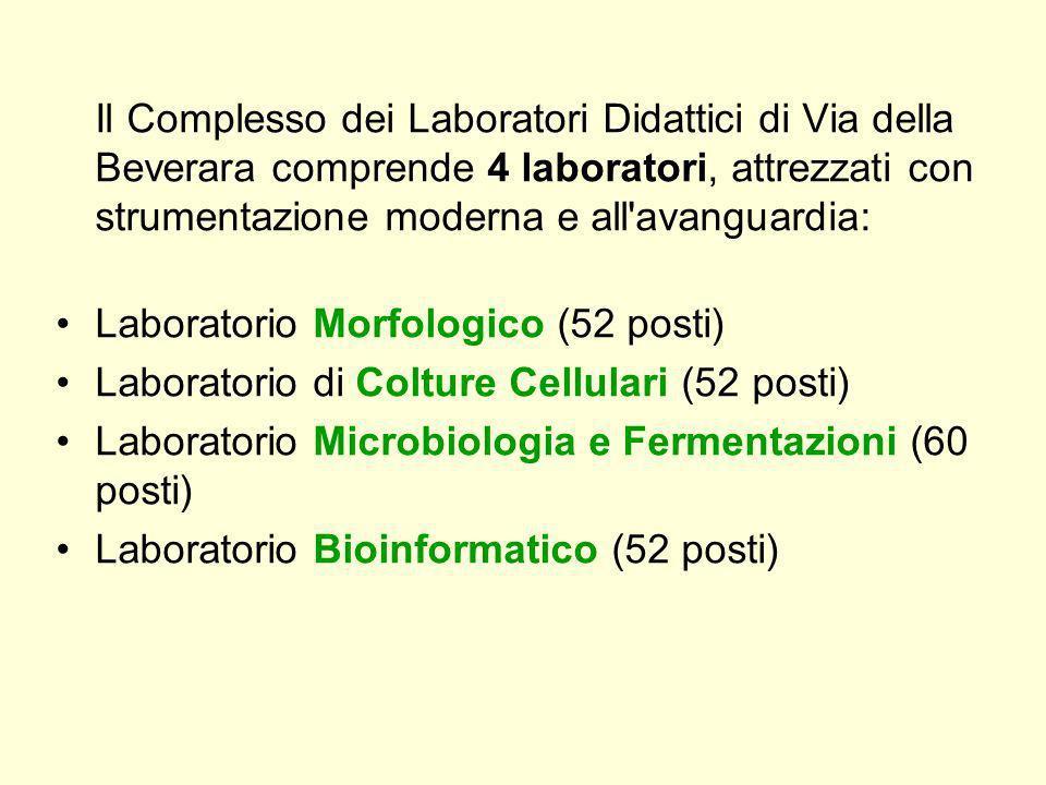Il Complesso dei Laboratori Didattici di Via della Beverara comprende 4 laboratori, attrezzati con strumentazione moderna e all'avanguardia: Laborator