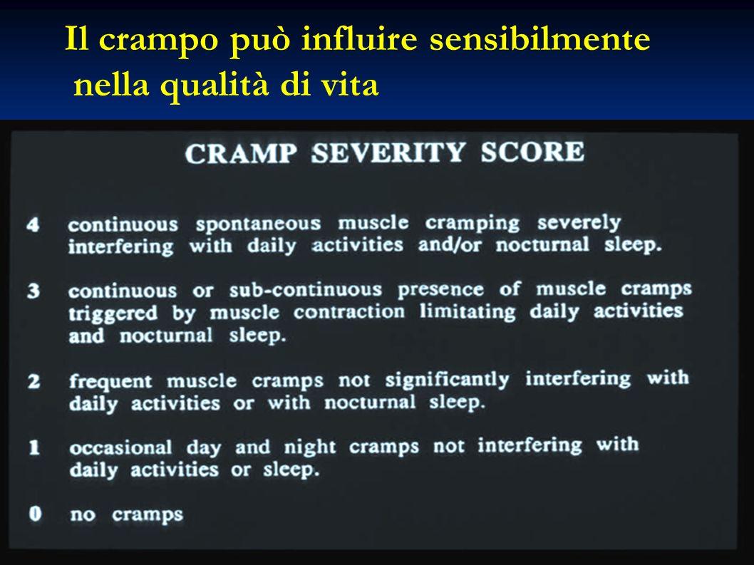 Il crampo può influire sensibilmente nella qualità di vita