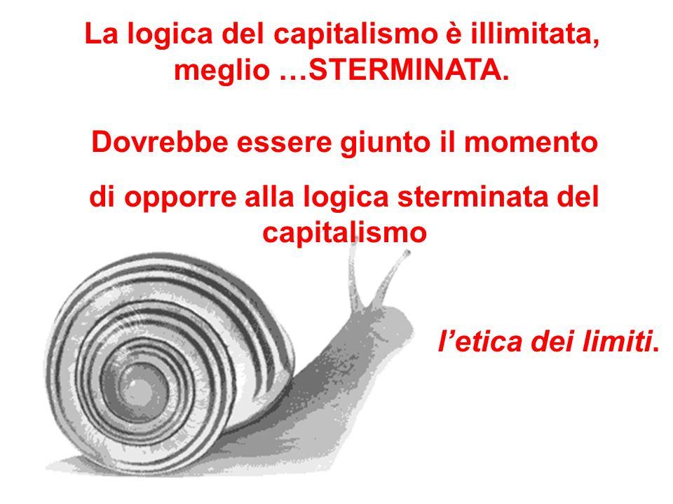 Dovrebbe essere giunto il momento di opporre alla logica sterminata del capitalismo letica dei limiti. La logica del capitalismo è illimitata, meglio
