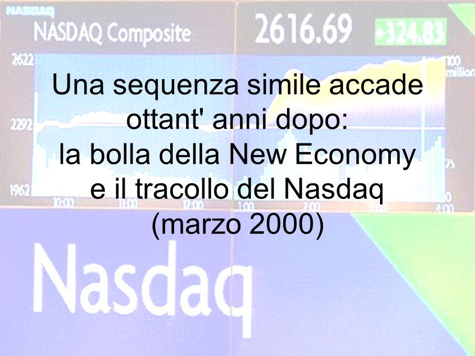Una sequenza simile accade ottant' anni dopo: la bolla della New Economy e il tracollo del Nasdaq (marzo 2000)
