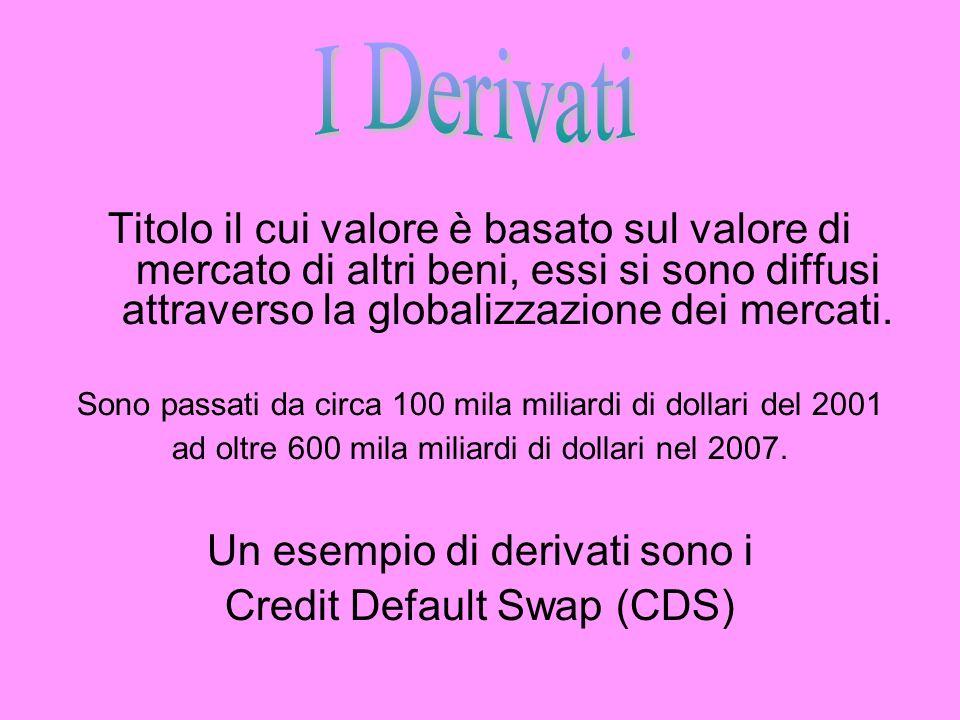 Titolo il cui valore è basato sul valore di mercato di altri beni, essi si sono diffusi attraverso la globalizzazione dei mercati. Sono passati da cir