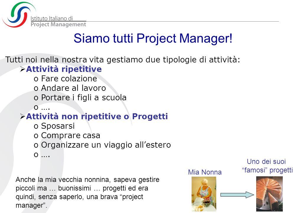 Progetti e operazioni Il lavoro di una organizzazione è composto da progetti e da operazioni.