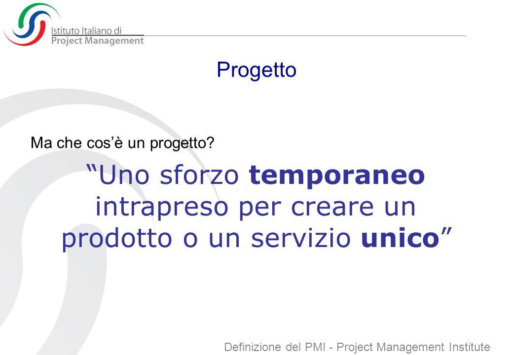 Project Management Ma che cosè il Project Management.