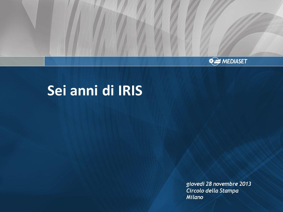 Sei anni di IRIS giovedì 28 novembre 2013 Circolo della Stampa Milano