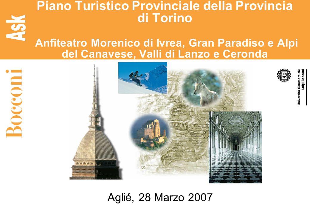 Piano Turistico Provinciale della Provincia di Torino Anfiteatro Morenico di Ivrea, Gran Paradiso e Alpi del Canavese, Valli di Lanzo e Ceronda Aglié,