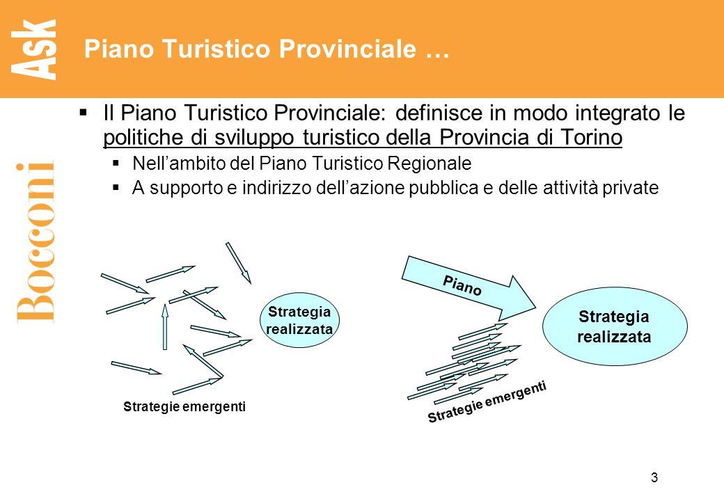 3 Piano Turistico Provinciale … Il Piano Turistico Provinciale: definisce in modo integrato le politiche di sviluppo turistico della Provincia di Tori