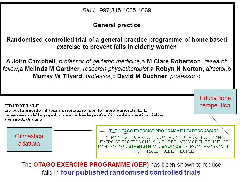 BENEFICIO DEL SINGOLO Acquisisce dignità di trattamento Cade di meno Assume meno farmaci Aumenta la propria quota di esercizio fisico ( effetto induzione)