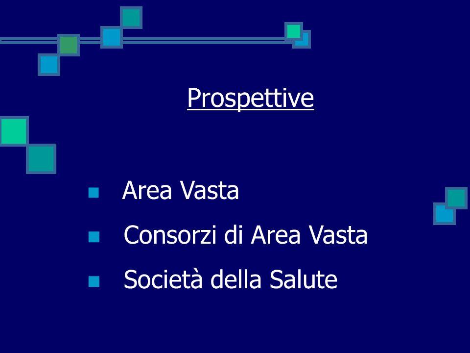 Prospettive Area Vasta Consorzi di Area Vasta Società della Salute