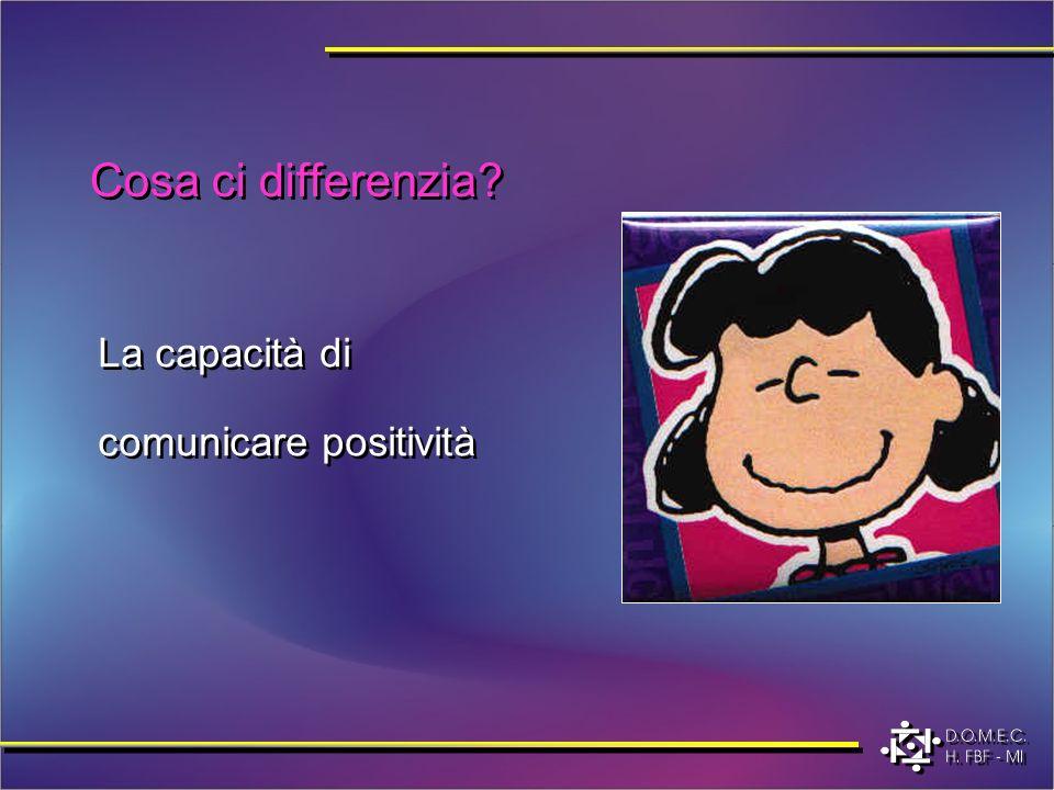 Cosa ci differenzia? La capacità di comunicare positività