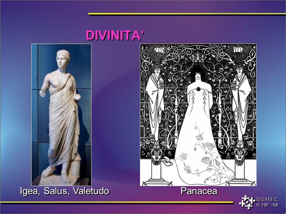 Igea, Salus, Valetudo DIVINITA Panacea