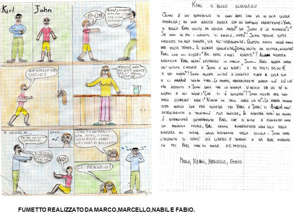 FUMETTO REALIZZATO DA FLORIN,GABRIELE,IONELA E MATTIA.