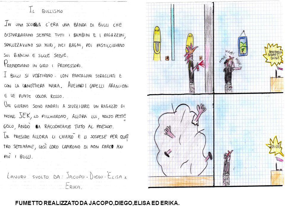 FUMETTO REALIZZATO DA SIMINA,SOFIA,JESSICA E MATTEO.