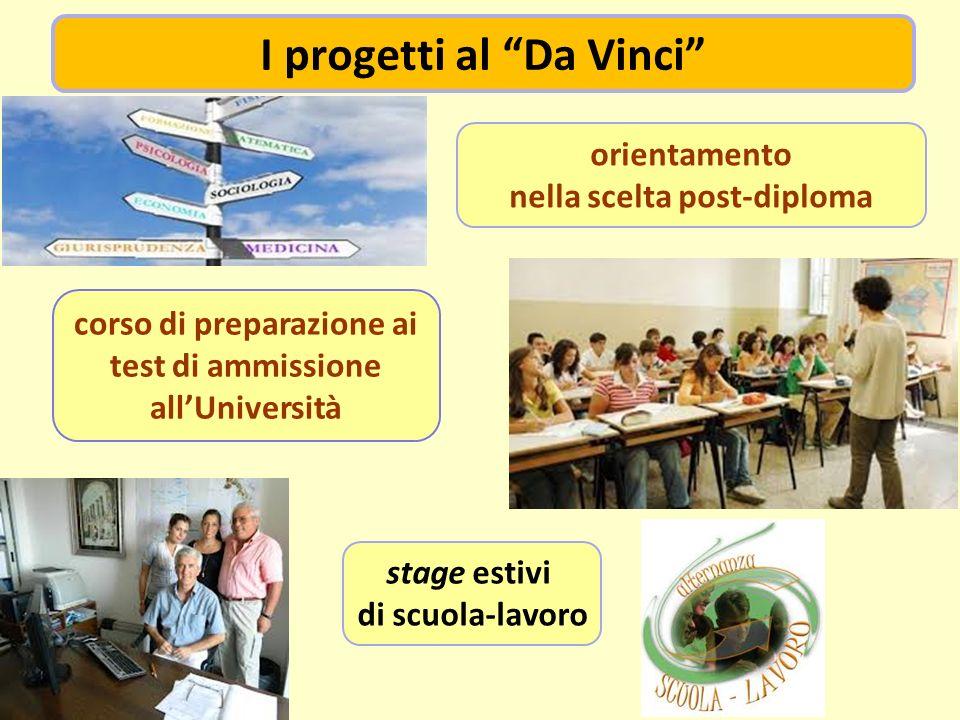corso di preparazione ai test di ammissione allUniversità orientamento nella scelta post-diploma stage estivi di scuola-lavoro