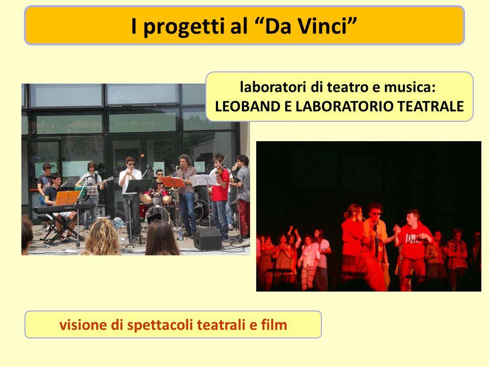 visione di spettacoli teatrali e film laboratori di teatro e musica: LEOBAND E LABORATORIO TEATRALE I progetti al Da Vinci