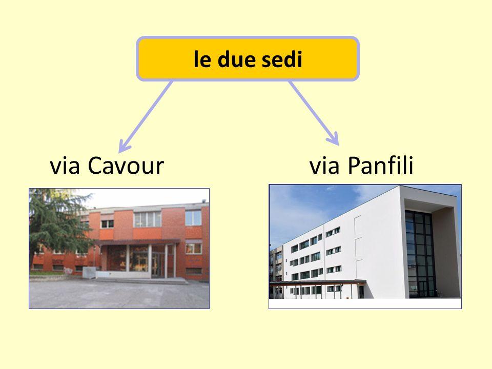 le due sedi via Panfilivia Cavour