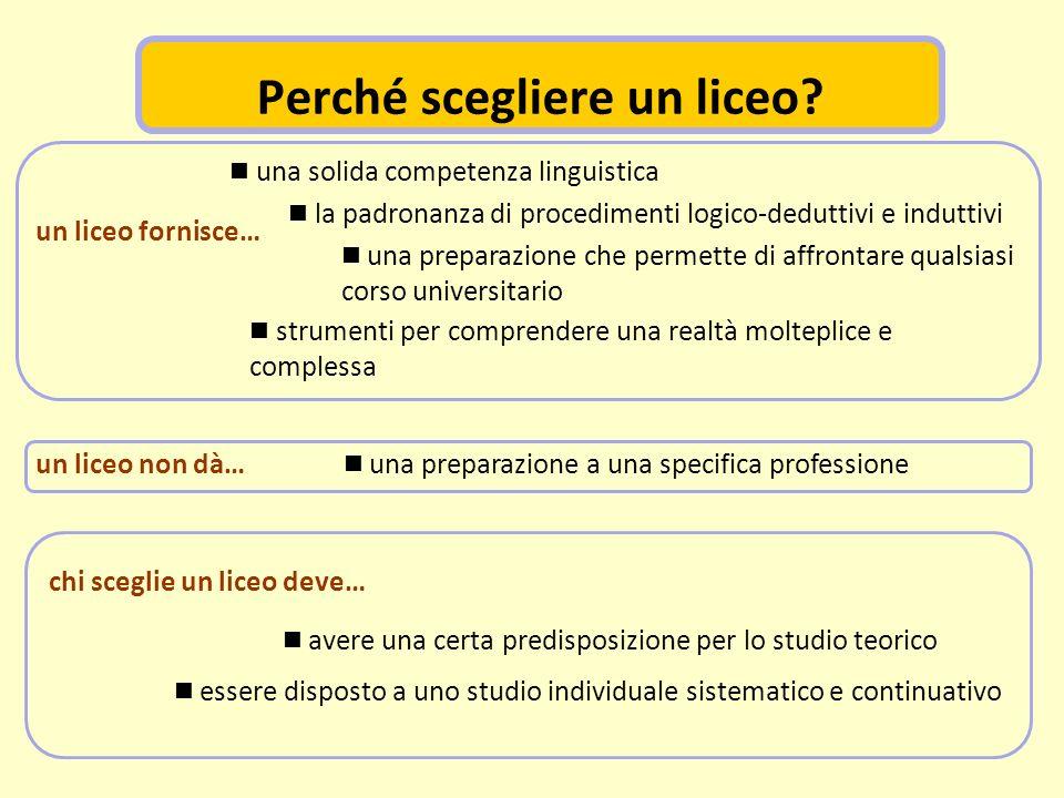 la padronanza di procedimenti logico-deduttivi e induttivi una solida competenza linguistica una preparazione che permette di affrontare qualsiasi cor